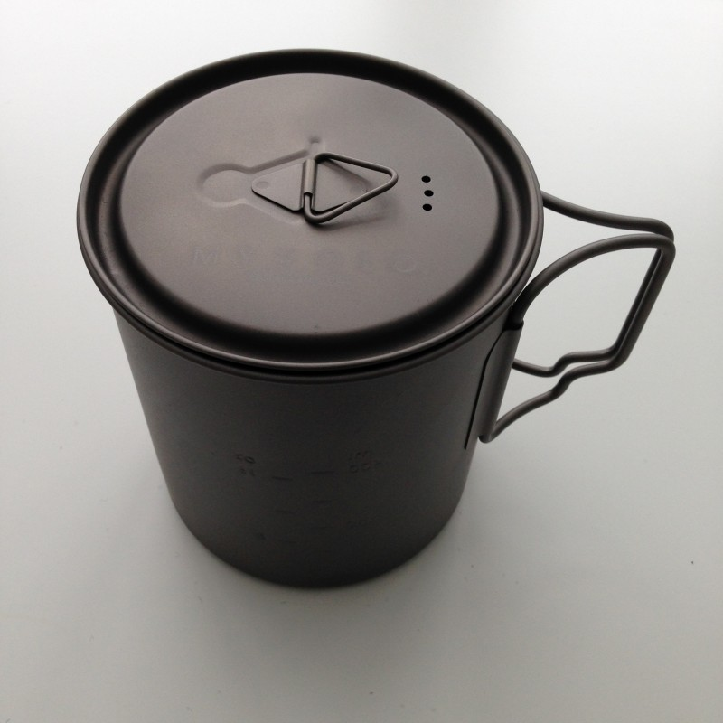 titanium camp stove cooking pot