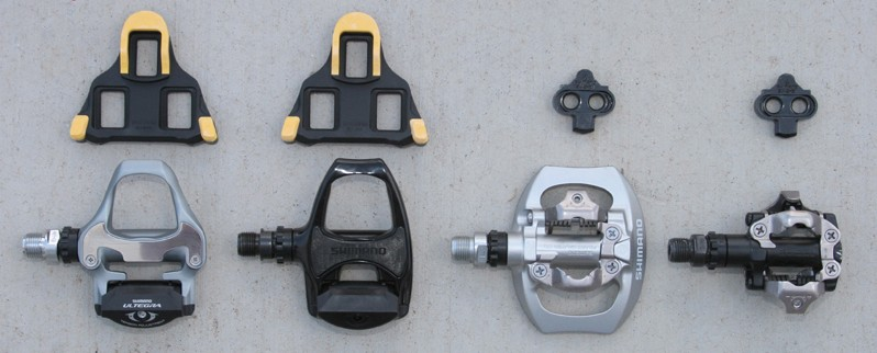 Clipless Pedals for Touring - Types of Pedals and Cleats