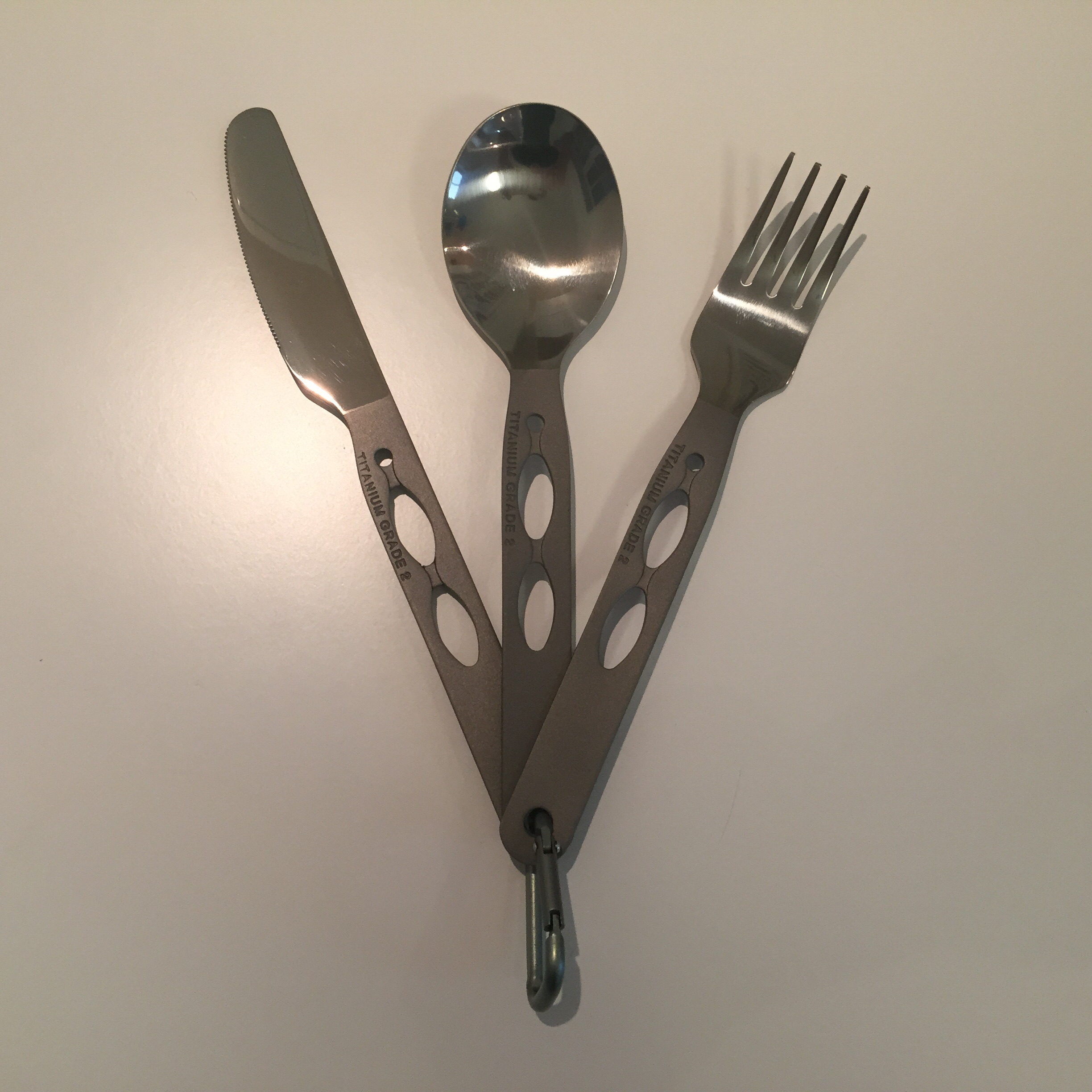 titanium knife fork and spoon