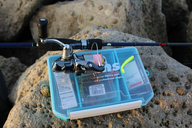 Light rock fishing whilst touring