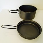 1200ml and 400ml titanium camp cook set