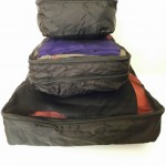 Small, medium and large clothes cube organisers for ortlieb panniers