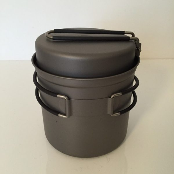 lightweight travellers titanium camp cookset for two