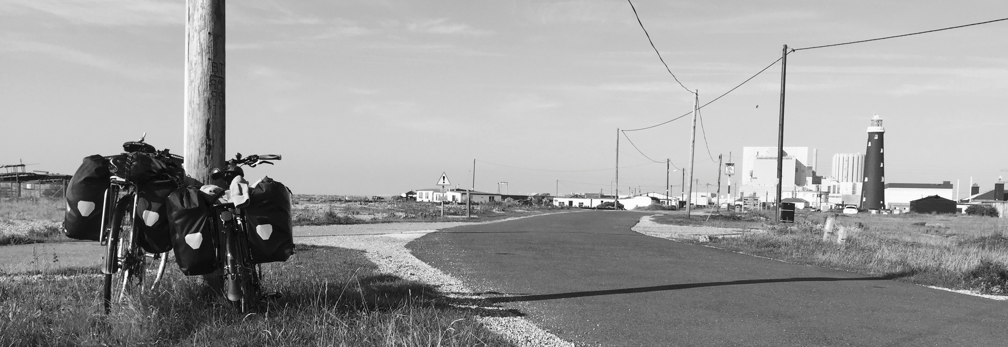 national cycle route 2 leading to wild camping in Dungeness, Kent