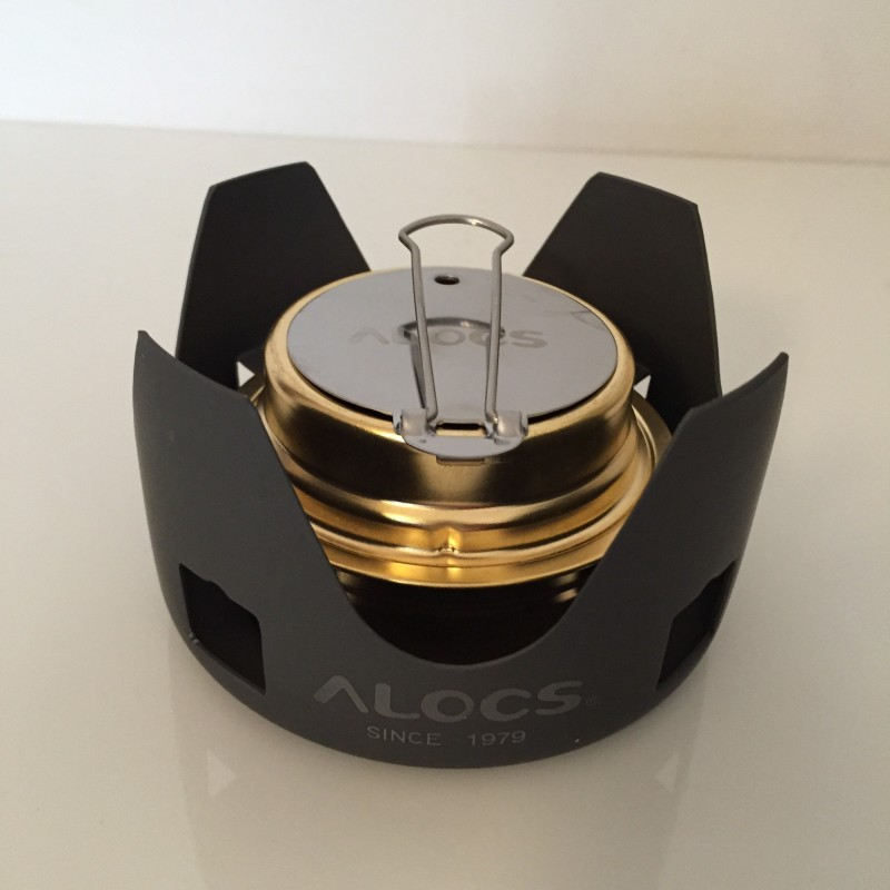 alocs spirit stove for lightweight camping backpacking cycle touring