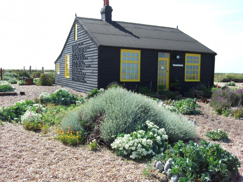 cycle touring and wild campign by derek jarman prospect cottage dungeness kent