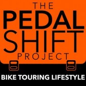 The pedal shift project podcast by Tim Mooney is no. 5 of the five best bicycle touring podcasts