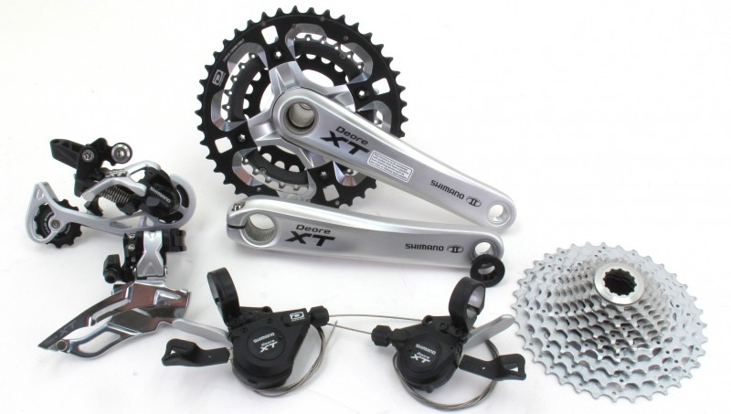 Redundant Shimano XT components - rear and front derailleurs, casette, chain rings and shifters when using a Rohloff Speedhub for cycle touring
