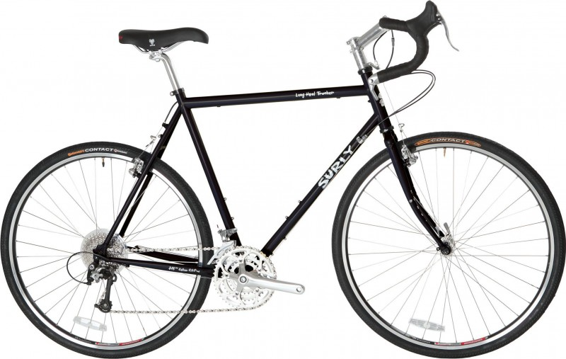 Surly Long Haul Trucker 700c Frameset Touring bicycle is a great road touring bike but the Surly Troll is preferred for off road touring