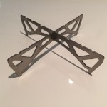 Ultra lightweight camping stove pot stand to work with the MSR Reactor Stove system