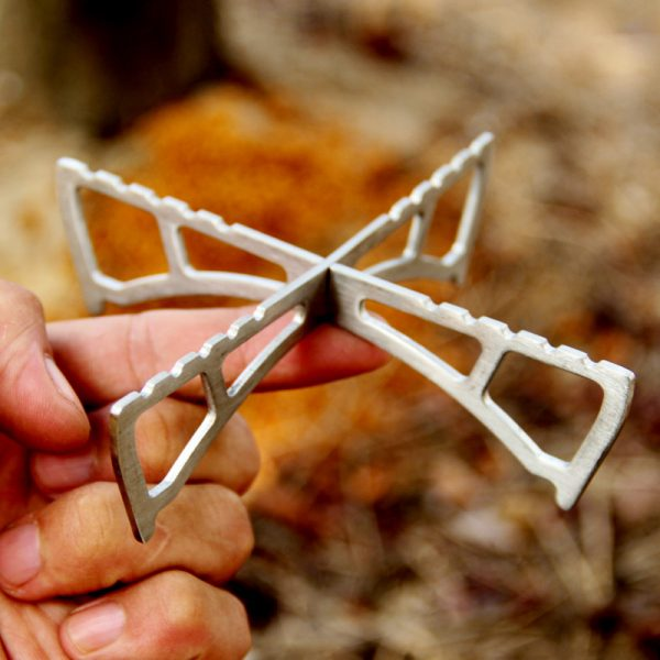 Lightweight Titanium Pot Stand for the MSR Reactor Stove system and other camping stoves