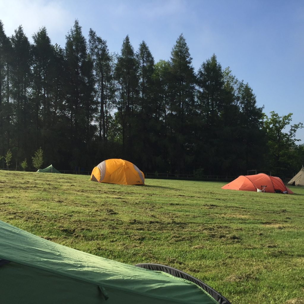 Excellent camping, 3 camp grounds at Cycle Tour Fest