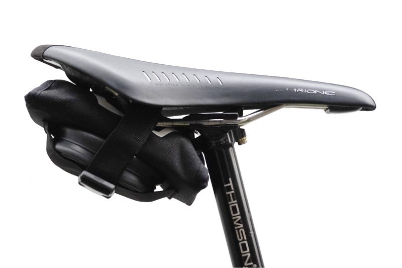 The Modula tool system in the Modula tool roll tucks neatly under your bikes Saddle
