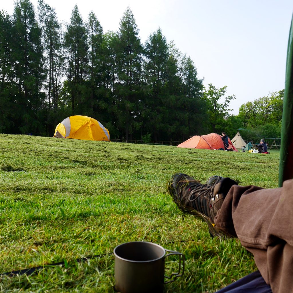 Morning over Dogwood camping field at Waddow Hall, Clitheroe for the Cycle Touring Festival 2016