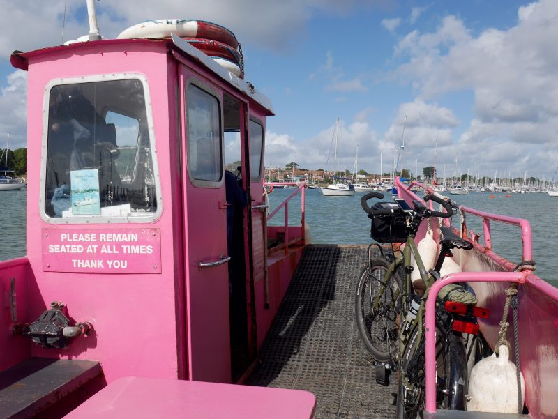 Travelling by bike to the new forest along the coast using ncn2