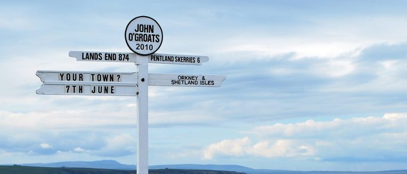 Cycling Lands end to john o groats