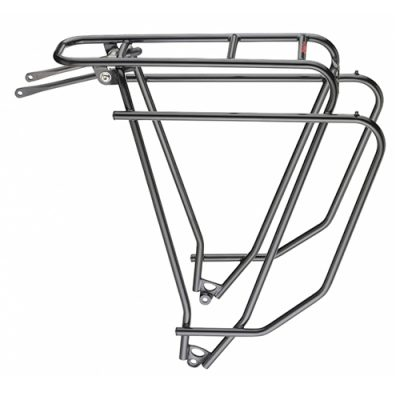 Tubus logo rear pannier rack for loaded cycle touring